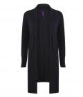Textil Strick Longline Open Cardigan Henbury - navy