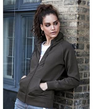 Textil Jacke Womens Sweat Fashion Full Zip Hood