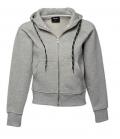 Textil Jacke Womens Sweat Fashion Full Zip Hood - heathergrey