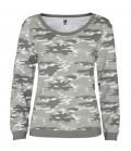 Textil Sweat Shirt Woman Malone Camouflage - grau