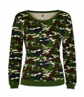 Textil Sweat Shirt Woman Malone Camouflage - forest