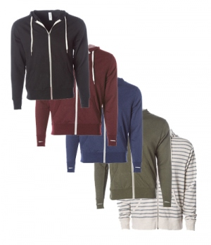 Textil Jacke Midweight French Terry Zip Hood