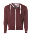Textil Jacke Midweight French Terry Zip Hood - burgundy
