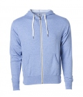Textil Jacke Midweight French Terry Zip Hood - skyblau