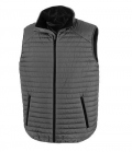 Textil Weste Unisex Thermoquilt Gilet Kontrast - grau-schwarz