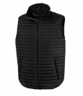 Textil Weste Unisex Thermoquilt Gilet Kontrast - schwarz
