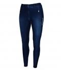 Pikeur Reithose Damen Janelle Grip Jeans Winter - jeansblau