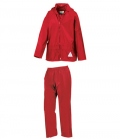 Textil Regenanzug Hose & Jacke Junior - rot