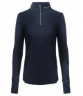 Cavallo Funktions Zip Shirt Raja Active Wool - darkblue