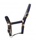 Kentucky Horsewear Halfter Artificial Leder Nylon geflochte - navy