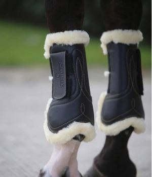Kentucky Horsewear Gamasche Leder Lammfell offen