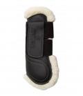 Kentucky Horsewear Gamasche Leder Lammfell offen - schwarz