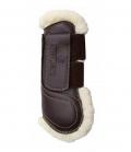 Kentucky Horsewear Gamasche Leder Lammfell offen - braun