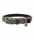 Kentucky Dogwear Hundehalsband Plaited Leder - grau