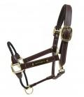 Kentucky Horsewear Halfter Leder Nasen Rope Kontrollhalfter - brown