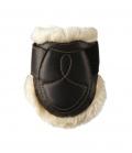 Kentucky Horsewear Streichkappe Leder Lammfell - schwarz