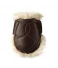 Kentucky Horsewear Streichkappe Leder Lammfell - braun
