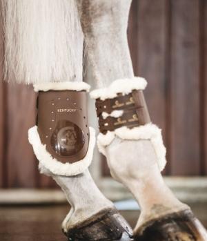 Kentucky Horsewear Streichkappe Elastik Lammfell