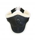 Kentucky Horsewear Sattelgurt Lammfell Stollengurt Leder - schwarz
