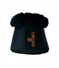 Kentucky Horsewear Sprungglocken Leder Lammfell - schwarz