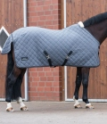 Equine Microtec Funktionsdecke Flanell Touch gesteppt - graphit