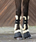 Equine Microtec Hufglocken Neoprene mit Fellrand - anthrazit