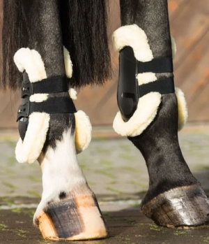 Equine Microtec Streichkappen lang 2er Set mit Fell