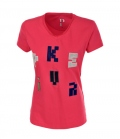 Pikeur T-Shirt Damen Mary Samt Buchstaben Sale - berry