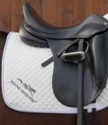 Equine Microtec Schabracke Baumwoll Twill gesteppt - cremesilve