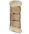 Covalliero Gamasche Soft mit hochwertigem Kunstfell - metallic