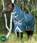 Horseware Turnoutdecke AmEco Bravo12 Plus Lite - teal/grey