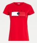 HILFIGER T-Shirt Rundhals Tommy Hilfiger Equestri - rot