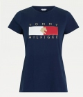 HILFIGER T-Shirt Rundhals Tommy Hilfiger Equestri - desert sky