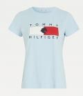 HILFIGER T-Shirt Rundhals Tommy Hilfiger Equestri - breezy blue