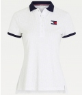 HILFIGER Polo Shirt Iconic Monogram FS´21 - weiß
