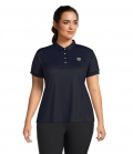 PS of Sweden Polo Shirt Ella Curvy Line - navy