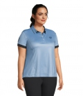 PS of Sweden Polo Shirt Ella Curvy Line - hellblau