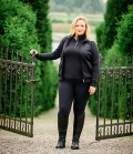 PS of Sweden Jacke Neoprene Freya Curvy Line - schwarz