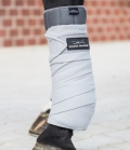Equine Microtec Bandagen Fleece Classic 4er Set - silber