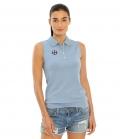 Spooks Polo Shirt Damen Leene ohne Arm FS´21 - dustyblue