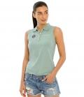 Spooks Polo Shirt Damen Leene ohne Arm FS´21 - dustygreen