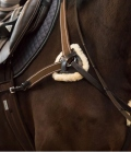 Equine Microtec Vorderzeug Fell abnehmbar Martingalgabel - braun