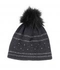 Pikeur Mütze mit Strass und Lurexstreifen HW´21 - anthrazit