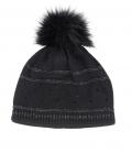 Pikeur Mütze mit Strass und Lurexstreifen HW´21 - schwarz