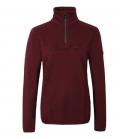 Covalliero Sweater mit hohem Kragen flauschig HW21 - aubergine