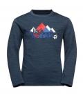 Jack Wolfskin Shirt Vargen Longsleeve Youth HW´21 - blue-red