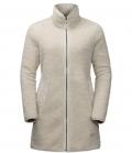 Jack Wolfskin Fleecemantel High Cloud Coat Damen HW´21 - dusty grey
