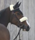 Kentucky Horsewear Nasenriemen Abdeckung Lammfell - natur