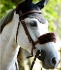 Kentucky Horsewear Nasenriemen Abdeckung Lammfell - braun