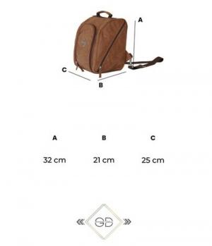 Grooming Deluxe Helmtasche Chestnut